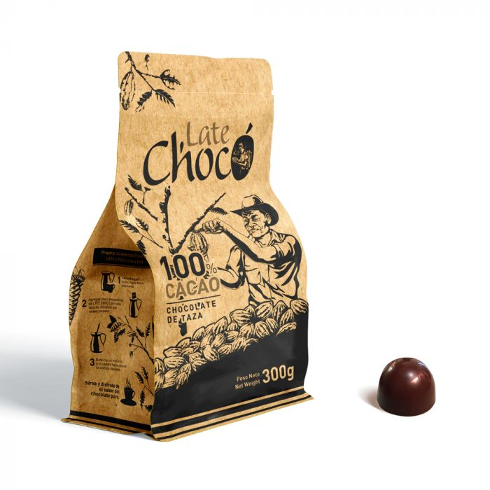 Chocolate de taza 100% cacao Late Chocó