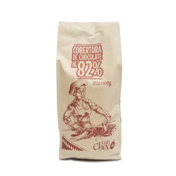 Cobertura de chocolate 82% cacao