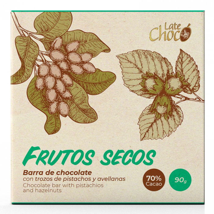 Chocolate oscuro con Frutos Secos