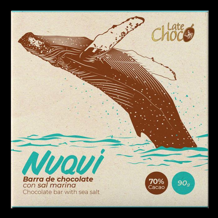 Chocolate oscuro 70% cacao con sal marina
