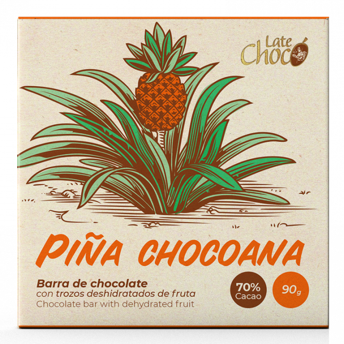 Chocolate oscuro con piña chocoana