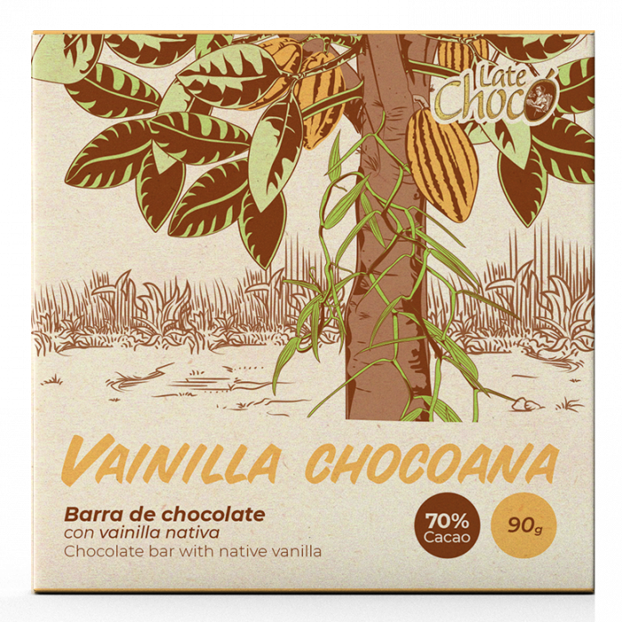 Chocolate oscuro con vainilla