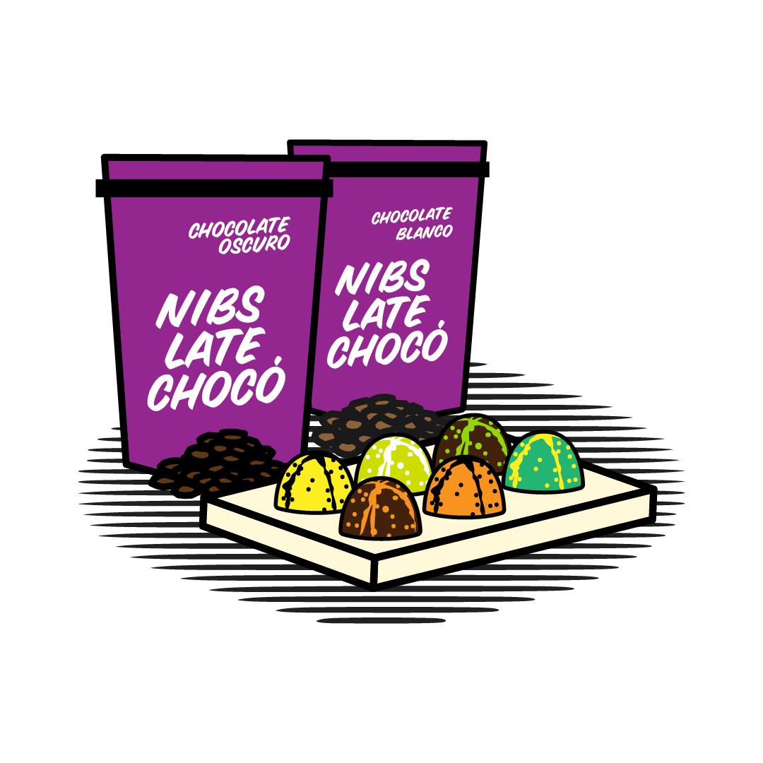 Snacks-Bocados Late Choco